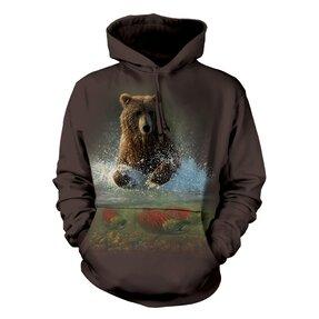 Mikina s kapucí Medvěd a ryby