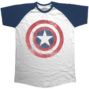 T-Shirt Marvel Comics Avengers Assemble Distressed Shield