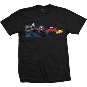 Schwarzes T-Shirt Marvel Comics Ant Man & The Wasp Banner