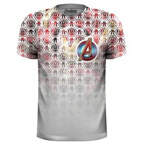 Tričko Marvel Comics Avengers Icons Pattern Pocket Logo