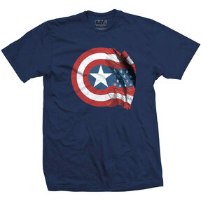 Marvel Comics Captain America American Shield Pólo