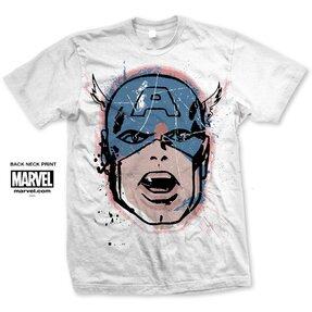 Tričko Marvel Comics Captain America Big Head Distressed