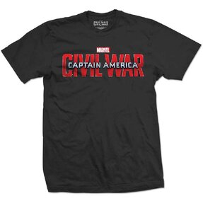 T-Shirt Marvel Comics Captain America Civil War Movie Logo
