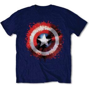 Tričko Marvel Comics Captain America Splat Shield