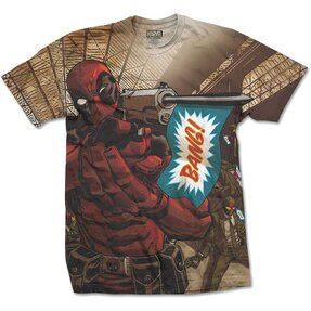 Tričko Marvel Comics Deadpool Bang