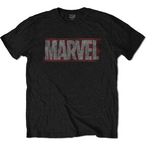 T-Shirt Marvel Comics Distressed Box Logo