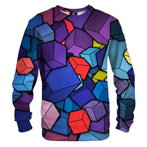 Sweatshirt ohne Kapuze 3D Würfel