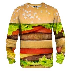 Mikina bez kapuce Detail hamburgeru
