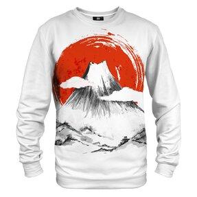 Sweatshirt ohne Kapuze Gezeichneter Fuji