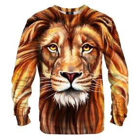 Sweatshirt ohne Kapuze Ölmalerei Löwe