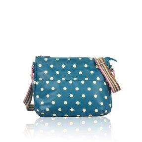 Crossbody Tasche Blau gepunktet