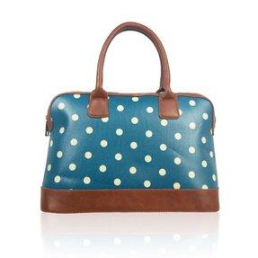 Modrá bodkovaná kabelka do ruky