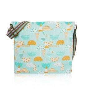 Modrá  crossbody taška Retro deštníky