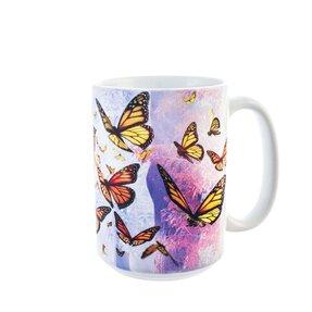 Originálny hrnček s motívom Motýlí vzostup