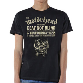 Tričko Motorhead Deaf Not Blind