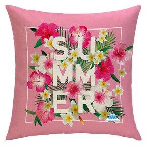 Oboustranný povlak na polštář Růžové léto