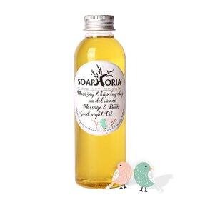 Organický masážny a kúpeľný olej pre deti