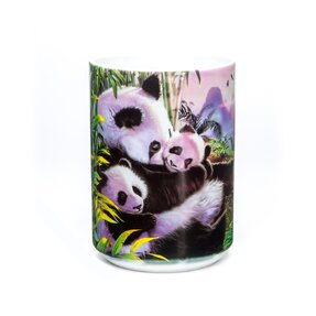 Eredeti mintás bögre Panda család