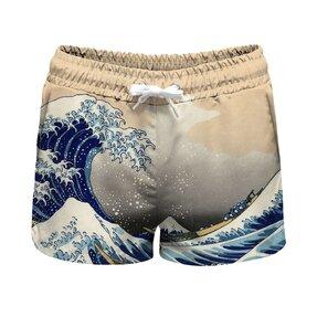 Férfi fürdőnadrág Kanagawa wave