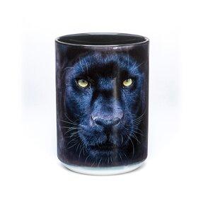 Originálny hrnček s motívom Tvár čierneho pantera