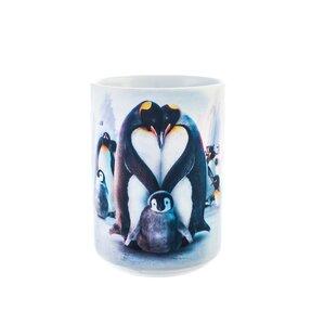 Originálny hrnček s motívom Rodina tučniakov