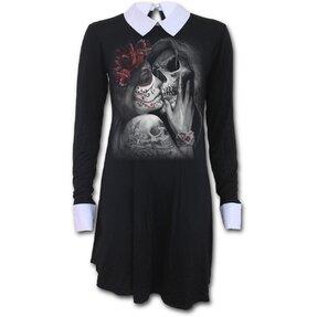Dámske šaty s golierom Posmrtný bozk