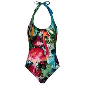 Plavky s odhalenými zády Plameňák na louce