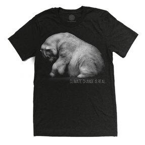 Tri-blend tričko Protect Medveď biely