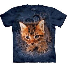 Kinder T-Shirt Kätzchen im Gras