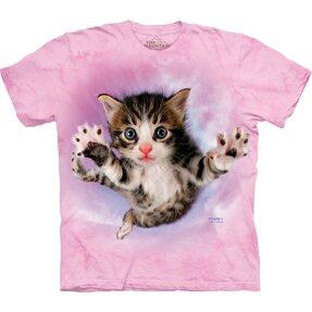 Kinder T-Shirt Fliegendes Kätzchen