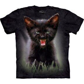 T-Shirt Schwarzes Kätzchen
