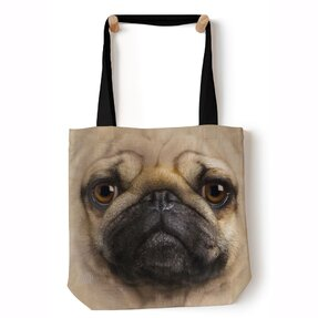 Schultertasche Tote Mops