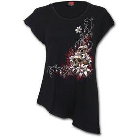 Asymetrické dámske tričko Krvavé slzy