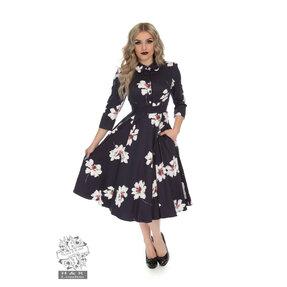 Vintage Pin Up Kleid mit Ärmel Blumentraum