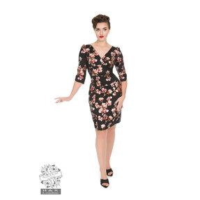Retro puzdrové šaty s rukávom Magnólia