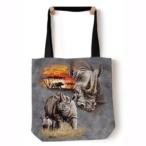 Tote taška na rameno Nosorožce
