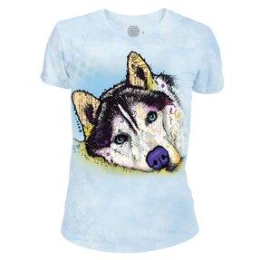 Tricou damă tri-blend Husky siberian Russo