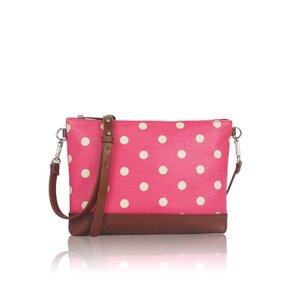 Ružová bodkovaná kabelka