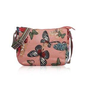 Rózsaszín crossbody táska   Pillangók