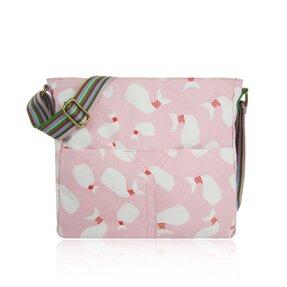Růžová  crossbody taška Velryby
