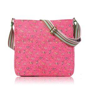Růžová crossbody taška Ptáci na větvích