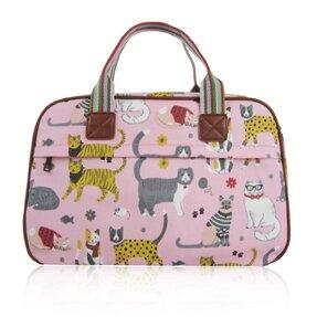Růžová kabelka do ruky Kočičí mix