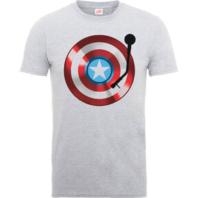 Tricou gri pentru copii  Captain America 75th Captains Record