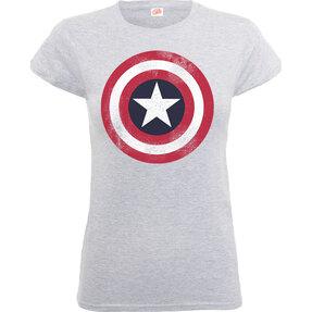 6682b5e375 Szürke Captain America Distressed Shield Gyerek póló