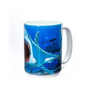Originelle Tasse mit dem Motiv Haizähne