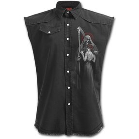 Košeľa bez rukávov s motívom Posmrtný bozk