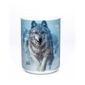Originálny hrnček s motívom Snežný vlk