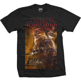 Tricou Star Wars Episode VII Chewbacca Composition