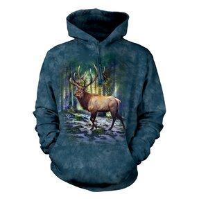 Mikina s kapucí Jelen a stromy