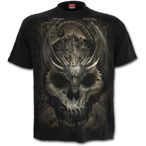 T-Shirt Drachen Skelett